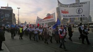 Związkowcy z Polfy zablokowali centrum