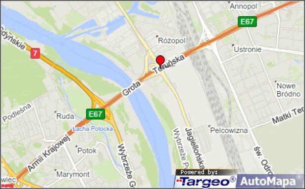 Zderzenie na Trasie Toruńskiej Mapy Targeo