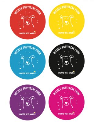 """Naklejki dla lokali """"przyjaznych psom"""" MJN"""
