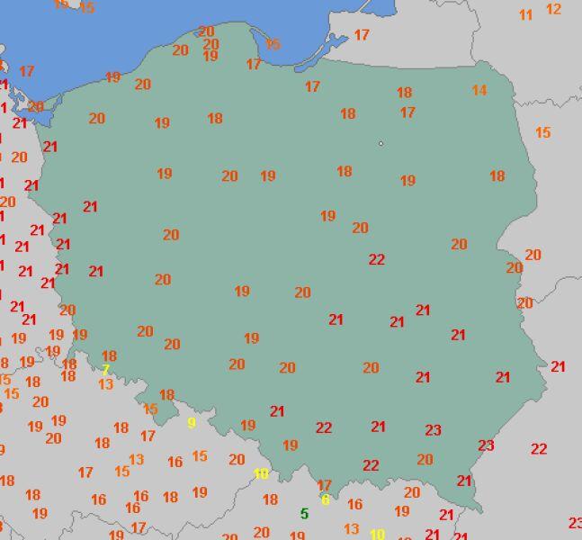 Temperatura maksymalna 30 października (wetteronline.de)