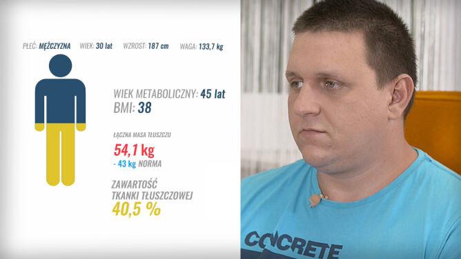 Musi schudnąć 43 kilogramy, by zmieścić się w zdrowej normie
