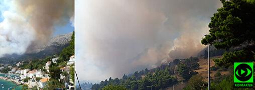 """Pożar na południu Chorwacji. """"Ogień był bardzo blisko domów"""""""