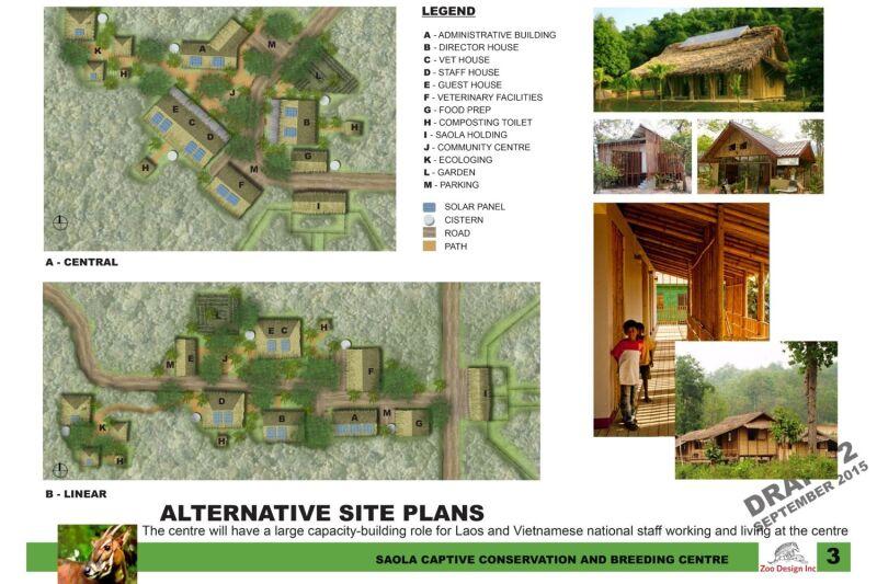 Plan stacji hodowlanej w parku narodowym w Wietnamie (zoo Wrocław)