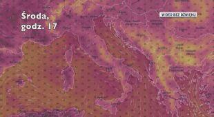 Temperatura we Włoszech w kolejnych dniach (Ventusky.com)