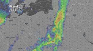 Opady w ciągu najbliższych pięciu dni (Ventusky.com)   wideo bez dźwięku