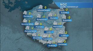 Prognoza pogody na noc 27/28.02